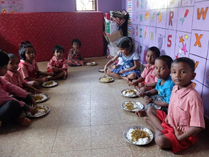 Essen im Shelter