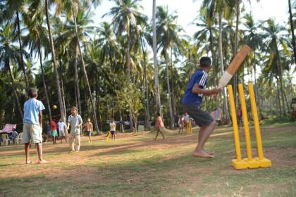 Cricket im Roshni Nilaya
